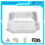 Hot selling aluminum foil container , aluminum foil box/serving tray