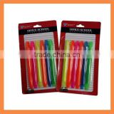 6pcs Fluorescent office and school suppliers stationery Mini Highlighters Set
