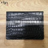 classic black wallet man crocodile leather skin logo accept customer design in stock non allergic