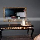 Antique style black console table I0012-1