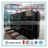 Alibaba China supplier building glass for window Euro bronze float glass
