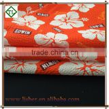 Printed Seersucker Polyester Cotton Rayon Blend Fabric for Women's Clothing