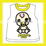 2016 Hot Sell Product Bros Babekit Cotton Yellow For Children Two Pieces Per Set