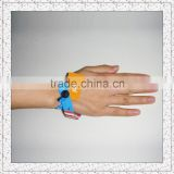 13.56 MHz Fujian RFID woven fabric wristband with one off plastic buckle