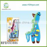 Plastic musical instrument horse shape electric baby toy touch guitar toy