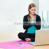 Microfiber Natural Rubber custom printed yoga mats,hot yoga mat,yoga towel mat Gymnastics