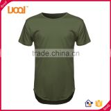 Wholesale custom mens blank plain tee shirt long line extended man t shirt                                                                         Quality Choice                                                                     Supplier's Choice