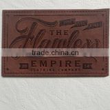 Custom Order Fake Leather Private Labels for Bag Jean Clothing