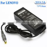 20v4.5a Manufacturer supply high quality ac dc power adapters laptop battery charger for lenovo notbook computer plugs with pin