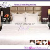wholesale hotel bedding sets in stripe, white stripe bedding, stripe bed linens for luxury hotels