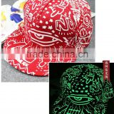Hot Sales New Fashion In The Dark Glowing Baseball Cap/Party Hat Fluorescent Snap Back Men Women Casual Hip Hop Caps                                                                         Quality Choice