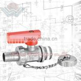 WD-2301 gas Brass Boiler Ball Valve with Cap and Chain