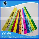 One time use customized waterproof tyvek/vinyl/paper wristbands                                                                         Quality Choice
