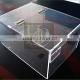 China Manufacturer Acrylic Material acrylic candy cake box with removable lid removable cover