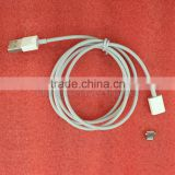 White ABS FCC UL CE ROHS certificate magnetic removable lightnin connector lightnin cables compatible with iOS 9
