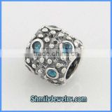 Wholesale High Quality European Antique Silver Crystal Beads BCZ20