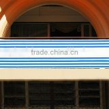 HDPE Blue Stripe Balcony Rain Sun Shade Protection