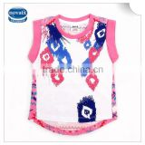 (K3979) 2-6Y white nova brand children summer cotton vest top baby garments summer kids tank tops girls