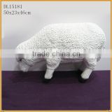 handmade fiberglass sheep statues garden ornament                                                                         Quality Choice
