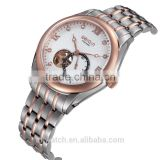 promotion stainless steel vogue watch,5atm water resistant automatic watch,mechanical stop watch