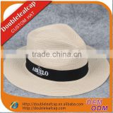 wide brim bouffant straw panama cap with a satin/hot sell paper straw cap