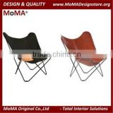 MA-SD106 Modern Living Room Chair Metal Frame Leather Butterfly Chair