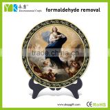 Eco-friendly religious Catholic Christian blessed Virgin Mary baby angels decorative carbon custom tourist souvenir plates