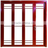 Exterior sliidng type accordion aluminum alloy folding doors for sale