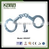 Double Steel Chroming Surface Police Metal Handcuffs