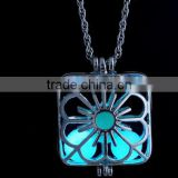 Glowing Steampunk Necklace Magical Fire Fairy Glow In The Dark Necklace Large Locket Women Jewelry