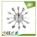 Creative Modern Cutlery Kitchen Decoration Wall clock Spoon Fork silent sweep wall clock