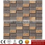 IMARK Electroplated Color Glass Mix Ceramic Mosaic Tiles (IXGC8-081) for back splash mosaic wall art