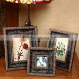 Top quality table wall Decorative archaistic wooden picture Rahmen Handmade baroque Antique Natural solid wood photo frame