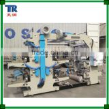 4 Color Automatic PE Plastic Film Bag Flexographic Printing Machine / HDPE LDPE PE Plastic Film Printing Machine
