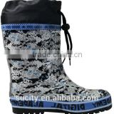 european style rain boots with cuff army fashion wellingtons boots wellie boots manufacturer