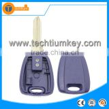 hot selling transponder car key case without logo with uncut blade blue color for fiat marea croma idea albea