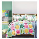 Spring Language textile prints circle bedding comforter sets good price