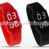 alibaba stock 32gb usb flash watch, silicone rubber wristband watch pendrive, Silicone LED watch usb drive