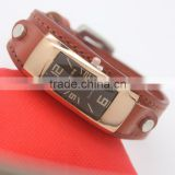 custom your brand genuine cow leather wrist watches for women vintage watch clock