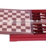 Fashoin Wooden chess box Wooden draughts box Chess box Chess board Checker board Draughts board