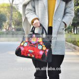 JiXIU canvas wholesale tote bags cotton tote bag india tote bag with national wind embroidery