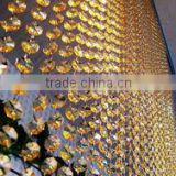 HX-0108G Hot sale elegant acrylic crystal hanging curtain for wedding decor