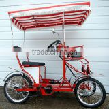 two and four person 2 and 4 rider pedal quadricycle surrey bike