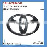 for toyota hiace parts hiace tail gate badges 14 cm #000150 for hiace 2005 up
