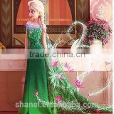 Latest design New arrival fashionable FROZEN Elsa/Anna girls dress party/costume cotton dress