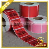 China factory heat sensitive paper adhevise sticker packing label