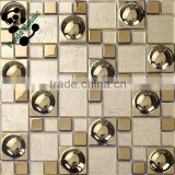 SMG03 Hot sale and special antique electroplate copper mosaic tile metal tiles design Kitchen wall tile stickers