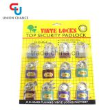 brass padlock of high security & iron keys with nickel plated