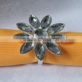 clear acrylic beaded wedding napkin ring