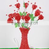 Artificial Christmas professional home decoration color-chasing vase flowers led lights artificial